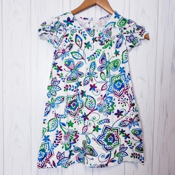 Hanna Andersson Flower Butterfly Dress 120/6x-7